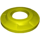 "55 Gallon Drum Yellow Plastic Flat Top Trash Receptacle Lid, 11.5"" Opening"