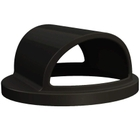 55 Gallon Drum Black Plastic 2-Way Open Trash Receptacle Lid