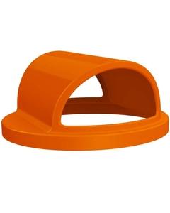55 Gallon Drum Orange Plastic 2-Way Open Trash Receptacle Lid