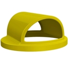 55 Gallon Drum Yellow Plastic 2-Way Open Trash Receptacle Lid
