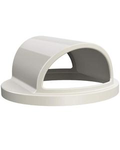 55 Gallon Drum White Plastic 2-Way Open Trash Receptacle Lid
