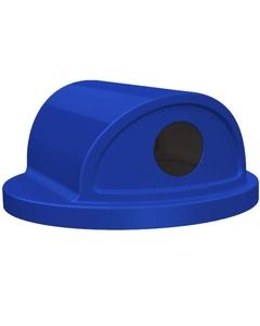 55 Gallon Drum Blue Plastic 2-Way Recycling Lid