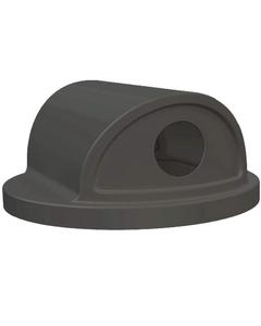 55 Gallon Drum Black Plastic 2-Way Recycling Lid