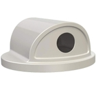 55 Gallon Drum White Plastic 2-Way Recycling Lid