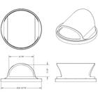 55 Gallon Drum Plastic 2-Way Open Trash Receptacle Lid