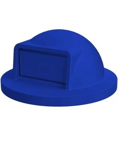55 Gallon Drum Blue Plastic Dome Top Trash Receptacle Lid
