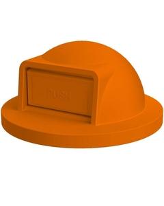 55 Gallon Drum Orange Plastic Dome Top Trash Receptacle Lid