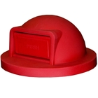 55 Gallon Drum Red Plastic Dome Top Trash Receptacle Lid