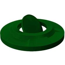 55 Gallon Drum Green Plastic Bug Barrier Trash Receptacle Lid