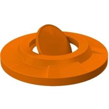 55 Gallon Drum Orange Plastic Bug Barrier Trash Receptacle Lid