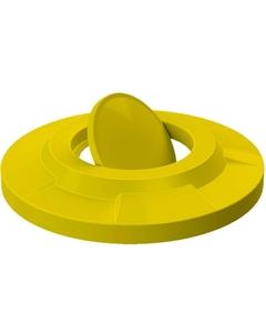 55 Gallon Drum Yellow Plastic Bug Barrier Trash Receptacle Lid