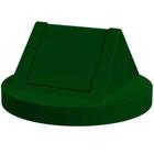 55 Gallon Drum Green Plastic Swing Top Trash Receptacle Lid