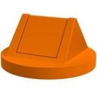 55 Gallon Drum Orange Plastic Swing Top Trash Receptacle Lid