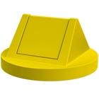 55 Gallon Drum Yellow Plastic Swing Top Trash Receptacle Lid