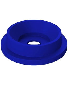 """55 Gallon Drum Blue Plastic Funnel Top Recycling Lid, 5"""" Opening"""