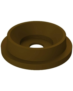 """55 Gallon Drum Brown Plastic Funnel Top Recycling Lid, 5"""" Opening"""