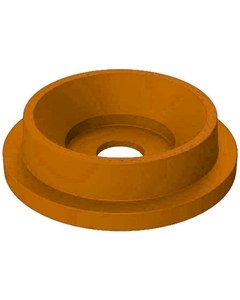 """55 Gallon Drum Orange Plastic Funnel Top Recycling Lid, 5"""" Opening"""