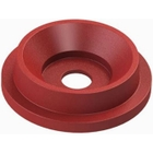 """55 Gallon Drum Red Plastic Funnel Top Recycling Lid, 5"""" Opening"""