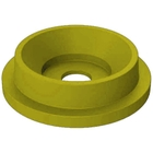 """55 Gallon Drum Yellow Plastic Funnel Top Recycling Lid, 5"""" Opening"""
