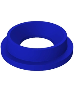 """55 Gallon Drum Blue Plastic Funnel Top Trash Receptacle Lid, 11.5"""" Opening"""