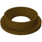 "55 Gallon Drum Brown Plastic Funnel Top Trash Receptacle Lid, 11.5"" Opening"