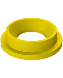 """55 Gallon Drum Yellow Plastic Funnel Top Trash Receptacle Lid, 11.5"""" Opening"""
