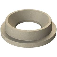 "55 Gallon Drum Beige Granite Plastic Funnel Top Trash Receptacle Lid, 11.5"" Opening"