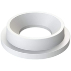 """55 Gallon Drum White Plastic Funnel Top Trash Receptacle Lid, 11.5"""" Opening"""