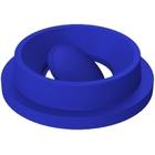 55 Gallon Drum Blue Plastic Funnel Top Bug Barrier Trash Receptacle Lid