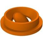 55 Gallon Drum Orange Plastic Funnel Top Bug Barrier Trash Receptacle Lid