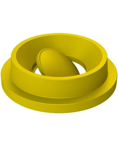 55 Gallon Drum Yellow Plastic Funnel Top Bug Barrier Trash Receptacle Lid