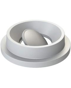55 Gallon Drum White Plastic Funnel Top Bug Barrier Trash Receptacle Lid