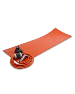 """6"""" x 24"""" Heavy-Duty Silicone Rubber Heating Blanket for Plastic, Adj. Thermostat, Up to 160°F w/Adhesive Backing (120v)"""