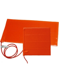 """6"""" x 24"""" Heavy-Duty Silicone Rubber Heating Blanket for Plastic w/Adhesive Backing (240v)"""
