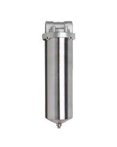 "10"" 316 Stainless Steel Single Cartridge Filter Vessel, 3/4"" NPT"