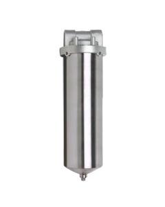 "10"" 316 Stainless Steel Single Cartridge Filter Vessel, 1"" NPT"