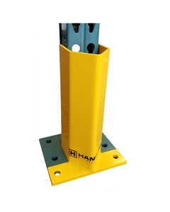 """12""""H x 3-1/4""""ID Yellow Universal Rack Post Protector (front)"""