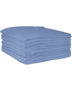"""15"""" x 18"""" Heavy-Weight Oil Absorbent Pads, Laminate, Blue (100 pads/bag)"""