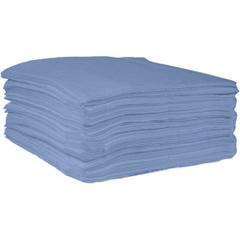 """15"""" x 18"""" Medium-Weight Oil Absorbent Pads, Fine Fiber, Blue (100 pads/bag)"""