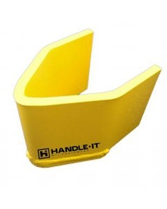 """4""""H x 3-1/4""""ID Yellow V-Nose Guard Post Protector"""
