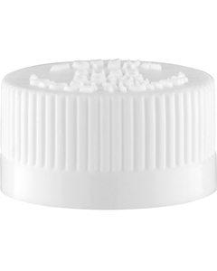 22mm 22-400 White Child Resistant Cap (PDT) w/Foam Liner (3-ply)