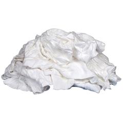Reclaimed White T-Shirt Rags, 25 lb. Bulk Pack
