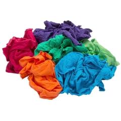 Reclaimed Mixed Colors Fleece Rags, 25 lb. Bulk Pack