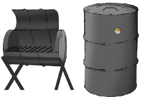 55 Gallon Drum BBQ Smokers & Grills