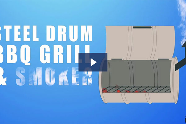 BBQ Grill & Smoker Drums (Video)