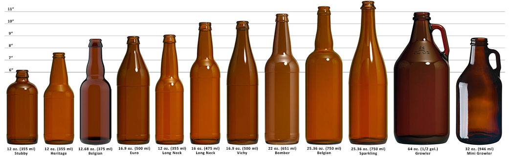 Beer Bottle Size Chart