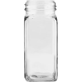 Glass French Square Jars