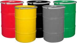 Open Head Specialty Color Plastic Drums