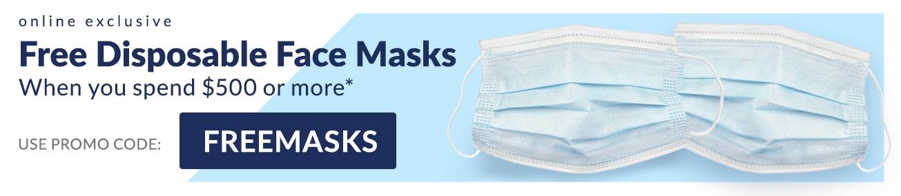 Free Disposable Face Masks When You Spend $500 or more